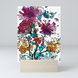 Floral watercolor abstraction Mini Art Print