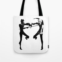 durarara Tote Bags featuring Shizuo & Celty by Prince Of Darkness