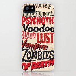 B Movie Beware iPhone Case