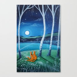 Moon gazers Canvas Print