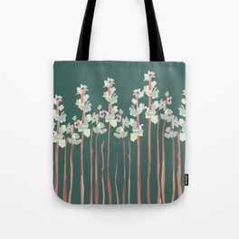 Marshmallow in Green Tote Bag