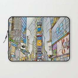 NYC Life in Times Square Laptop Sleeve