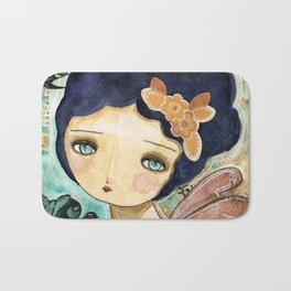 Charity Wings Watercolor Collage Bath Mat