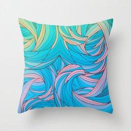 Sun Light Waves Throw Pillow