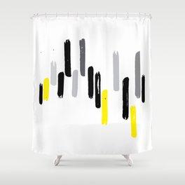 neon stumps - gray Shower Curtain