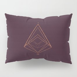 CHRISTMAS TREE GEOMETRICAL PLUM COPPER Pillow Sham
