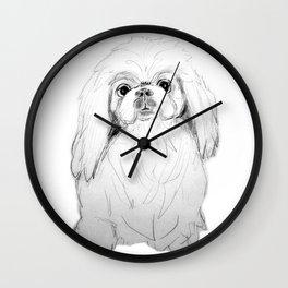 Cartoon Pekingese Dog Wall Clock