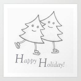 Happy Holiday! Art Print