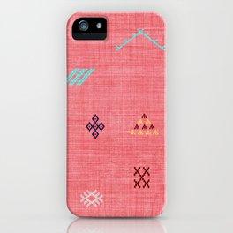 Cactus Silk Pattern in Pink iPhone Case