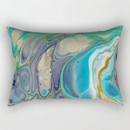 Fluid Abstract - Blue and Purple Rectangular Pillow