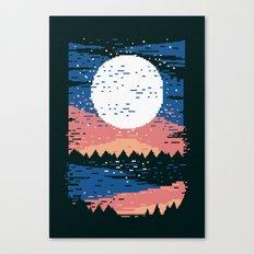 Starry Pixel Night Canvas Print