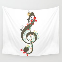 Floral sol key Wall Tapestry