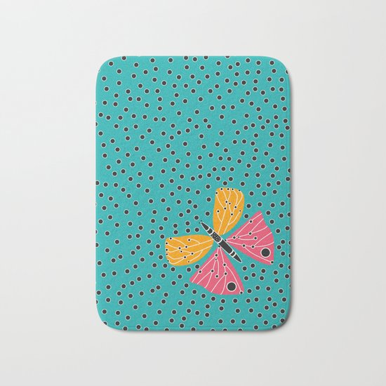 Butterfly with dots Bath Mat