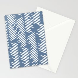 Leaves abstract in blue Stationery Cards