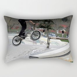 """Getting Air"" - BMX Rider Rectangular Pillow"