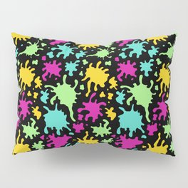 Colorful Paint Splatter Pattern Pillow Sham