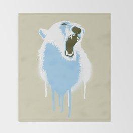 Polar Bear Head Throw Blanket