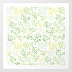 Green Corals Art Print