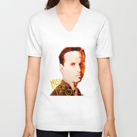 moriarty V-neck T-shirts featuring Miss me? - Jim Moriarty by Pash Arts
