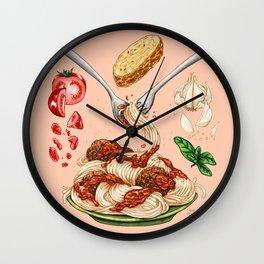 Spaghetti Mandala Wall Clock