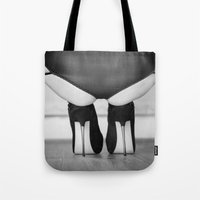 heels Tote Bags featuring Spike Heels by davehare