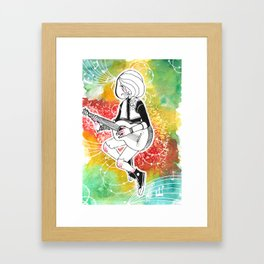 Coloured Music Framed Art Print