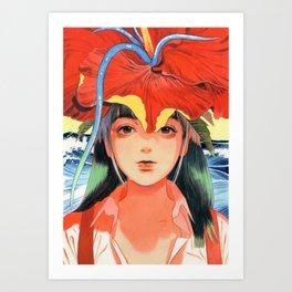 WAKAME002 Art Print