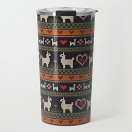 Llama Love Knit Travel Mug