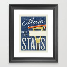 Movies Under the Stars Framed Art Print