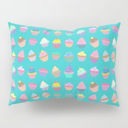 Cupcake sweet dream colourful factory pattern Pillow Sham