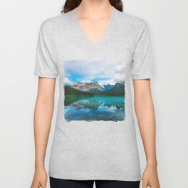 The Mountains and Blue Water - Nature Photography Unisex V-Neck