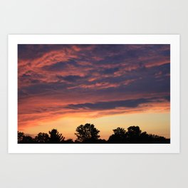 Sunset over Liverpool, NY Art Print