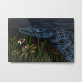 There's Something Lurking In The Rushes Metal Print