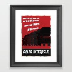 Delta Integrale Framed Art Print