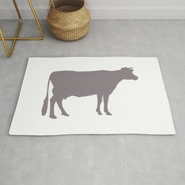 Cow: Purple Lavender Rug