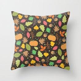 Thanksgiving pattern Throw Pillow
