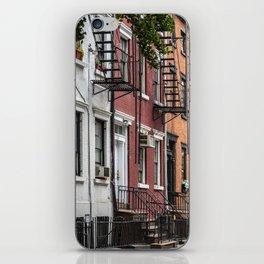 Picturesque street view in Greenwich Village, New York iPhone Skin