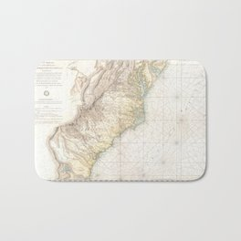 Vintage Map of The Southern Colonies (1778) Bath Mat