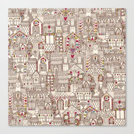 gingerbread town Canvas Print