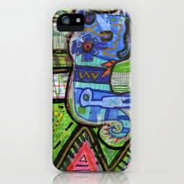 Blue Guy iPhone Case
