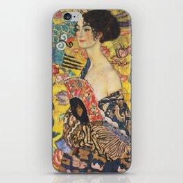 Gustav Klimt Lady With Fan  Art Nouveau Painting iPhone Skin