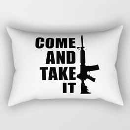 Come and Take it with AR-15 Rectangular Pillow