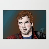 star lord Canvas Prints featuring Star-Lord  by xKxDx