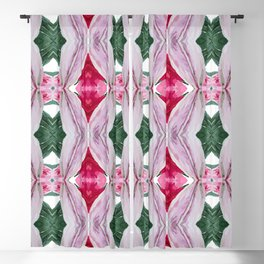 floral abstract pattern 3 Blackout Curtain