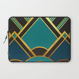Art Deco New Tomorrow In Turquoise Laptop Sleeve