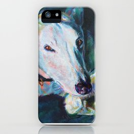 Greyhound Lapping Up The Sun iPhone Case