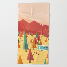 Go out Beach Towel