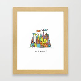 Monster Tower II Framed Art Print