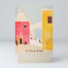 Spain Vintage Travel Poster Mid Century Minimalist Art Mini Art Print