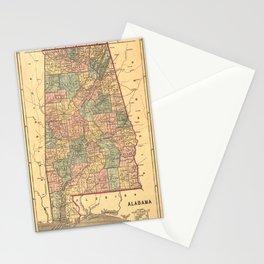 Vintage Map of Alabama (1848) Stationery Cards